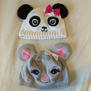 Set of two super cute toddler beanies